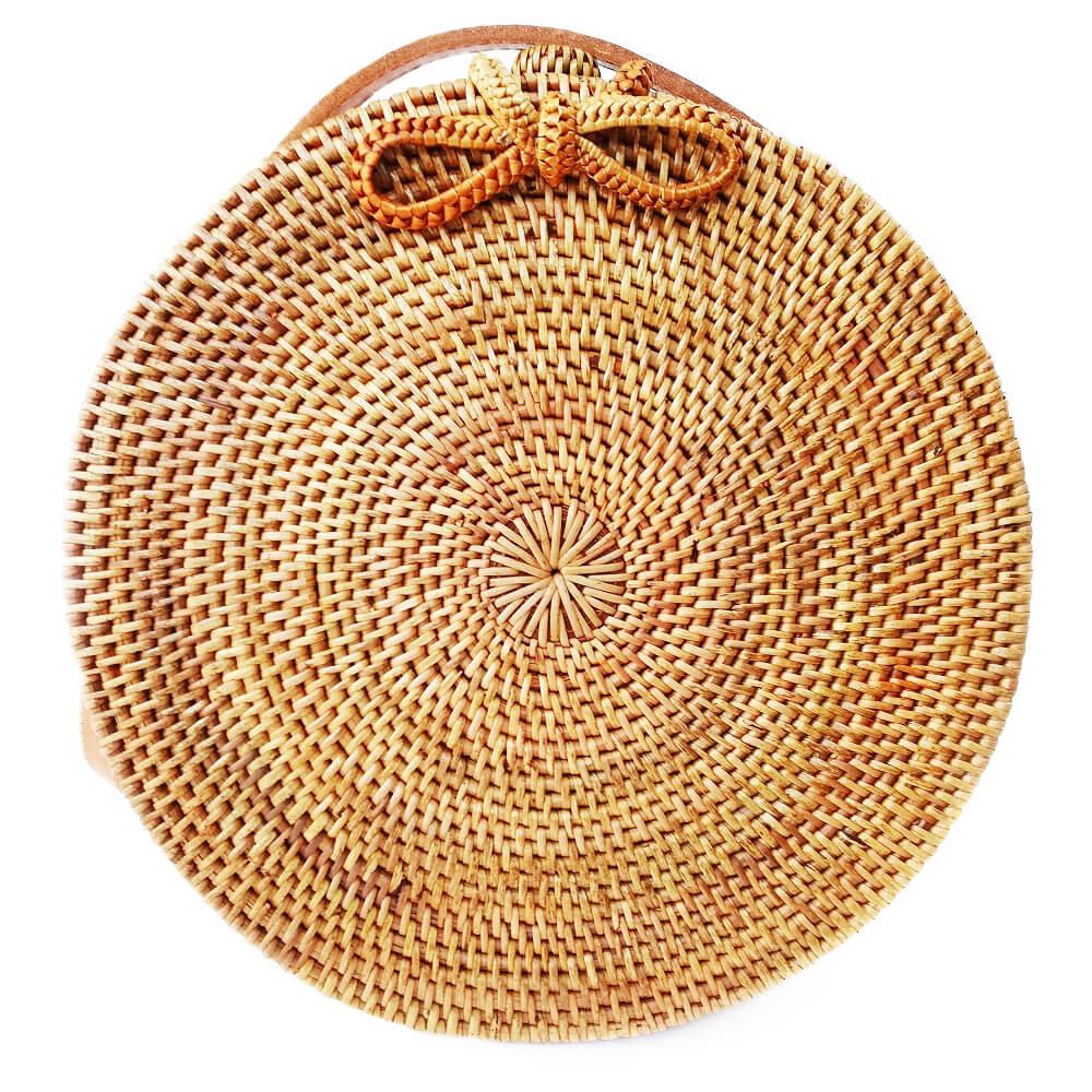 Кругла сумочка з ротанга BaliBags BB0382
