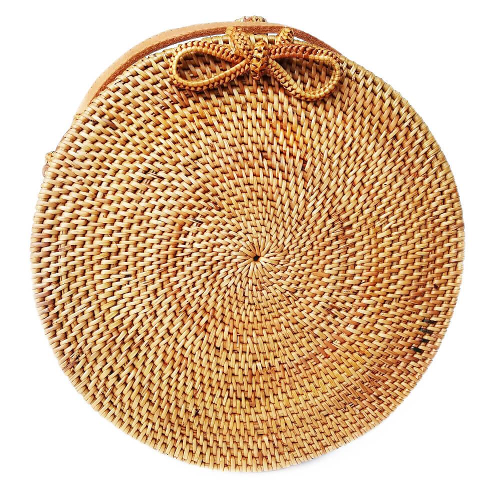 Кругла сумочка з ротанга BaliBags BB0384